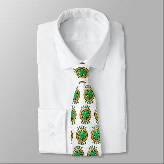 Trébol afortunado de la hoja del encanto 4 del día corbatas personalizadas