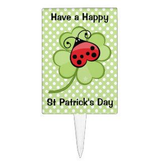 Trébol afortunado de la hoja del irlandés 4 y decoraciones para tartas