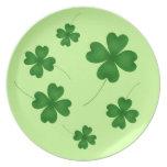 Trébol afortunado del día de St Patrick lindo Plato De Comida
