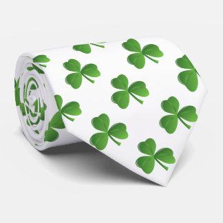 Trébol afortunado del trébol de la hoja del corbata personalizada