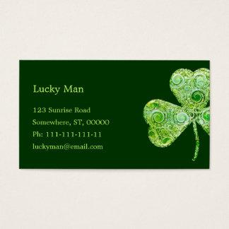 Trébol afortunado el | floral tarjetas de visita