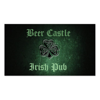 Trébol afortunado irlandés del grunge con clase tarjetas de visita