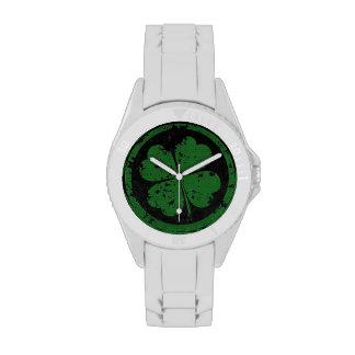 Trébol afortunado relojes de pulsera