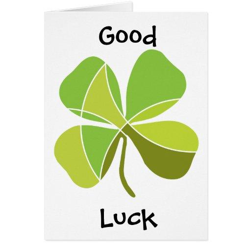Trébol afortunado tarjeta de felicitación
