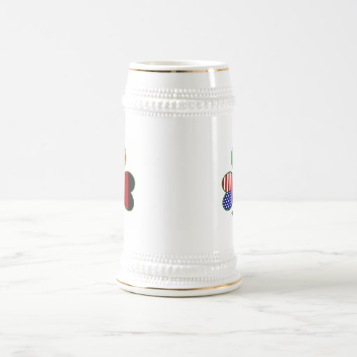 Trébol alemán jarra de cerveza