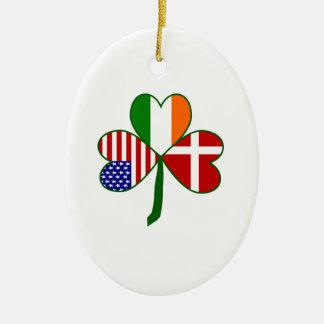Trébol americano irlandés danés ornamentos para reyes magos