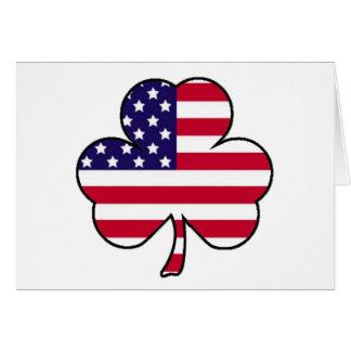 Trébol americano tarjeta de felicitación