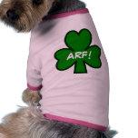 ¡Trébol ARF! Camisa del mascota Ropa De Perro