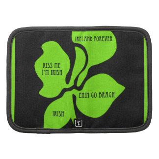 Trébol artsy del verde del trébol de cuatro hojas planificadores