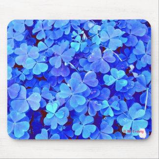 Trébol azul Mousepad Alfombrillas De Raton