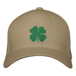 Trébol bordado de la hoja del irlandés cuatro gorra bordada