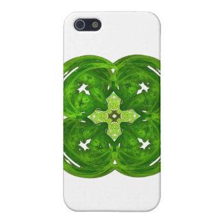 Trébol brillante de la hoja del arte cuatro del fr iPhone 5 funda