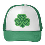 Trébol céltico del nudo gorras de camionero