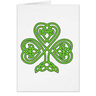 Trébol céltico del nudo tarjeta de felicitación