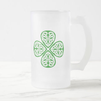 Trébol céltico del nudo taza cristal mate