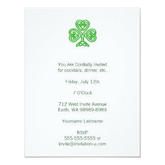 Trébol céltico invitaciones personalizada