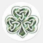 Trébol céltico:: Pegatinas verdes del diseño de es