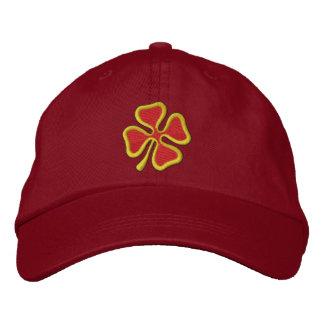 trébol de 4 hojas gorra de beisbol bordada