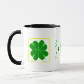 Trébol de 4 hojas taza