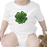 trébol de 4 hojas trajes de bebé