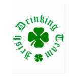 Trébol de consumición irlandés del equipo tarjetas postales