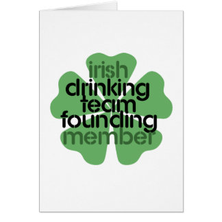 Trébol de consumición irlandés del miembro fundado tarjeta de felicitación
