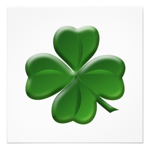 Trébol de cuatro hojas - botón del día de St Patri Invitacion Personalizada