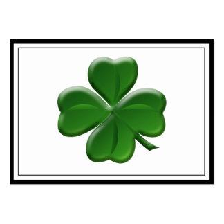 Trébol de cuatro hojas - botón del día de St Tarjetas De Visita Grandes