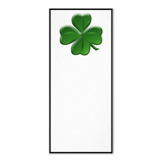 Trébol de cuatro hojas - botón del día de St Plantillas De Lonas