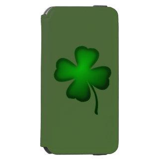 Trébol de cuatro hojas funda billetera para iPhone 6 watson