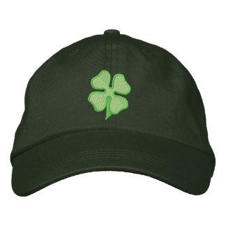Trébol de cuatro hojas gorra de béisbol