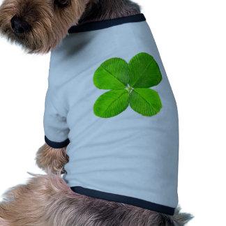 Trébol de cuatro hojas los regalos de Zazzle del M Camisetas De Mascota