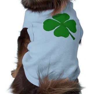 Trébol de cuatro hojas ropa para mascota