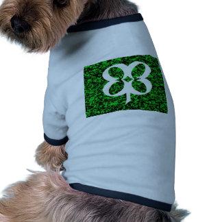 Trébol de cuatro hojas camiseta de perrito