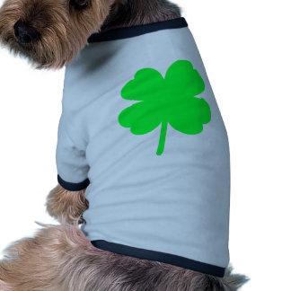 Trébol de cuatro hojas camiseta de perro