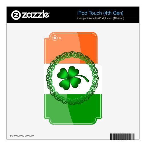 Trébol de cuatro hojas skins para iPod touch 4G