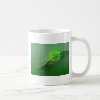 Trébol de cuatro hojas taza
