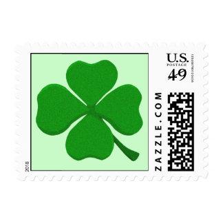 Trébol de cuatro hojas - trébol irlandés sellos