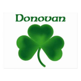 Trébol de Donovan Postal