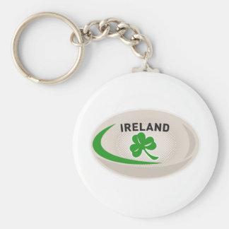 Trébol de Irlanda de la bola de rugbi Llavero Personalizado