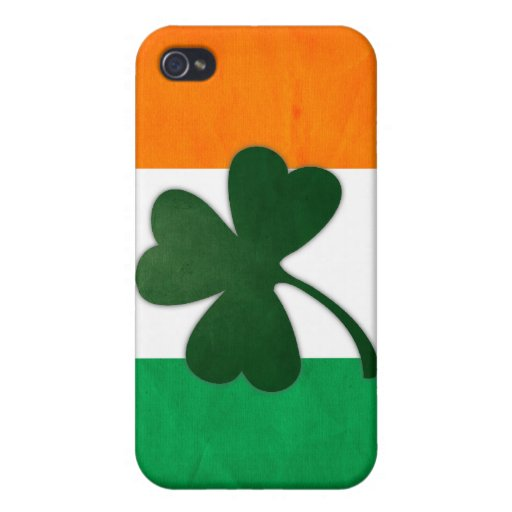 Trébol de Irlanda iPhone 4 Cárcasas