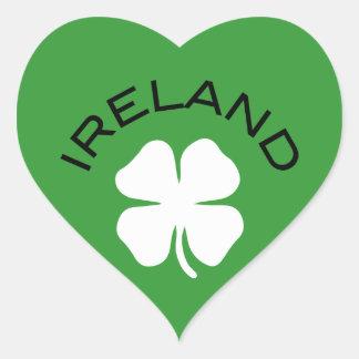 Trébol de Irlanda Pegatina En Forma De Corazón