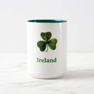 Trébol de Irlanda - taza de café (grande)