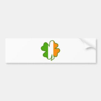 Trébol de la bandera de Irlanda Pegatina Para Auto