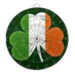 Trébol de la bandera de Irlanda Tablero Dardos