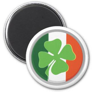 Trébol de la Cuatro-Hoja y colores irlandeses de l Iman De Nevera