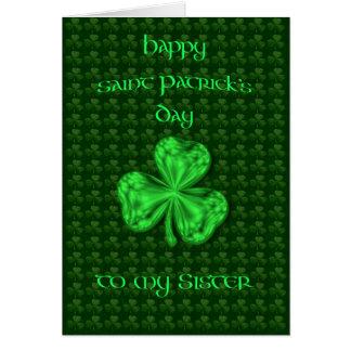 Trébol de la hermana del día de St Patrick feliz Tarjeta De Felicitación