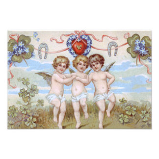 Trébol de la herradura del ángel de la querube fotografías