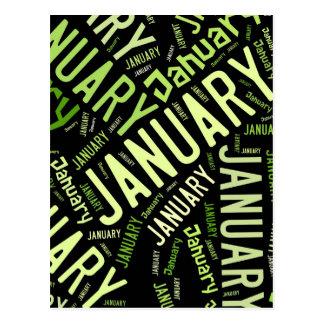 Trébol de la hoja de enero cuatro tarjeta postal
