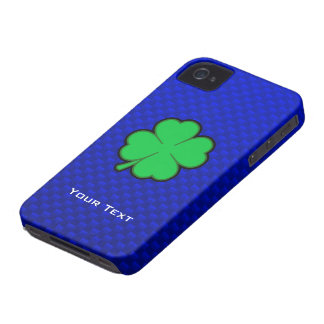 Trébol de la hoja del azul 4 iPhone 4 Case-Mate cárcasas